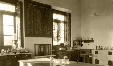 Laboratorio de Química. 1917