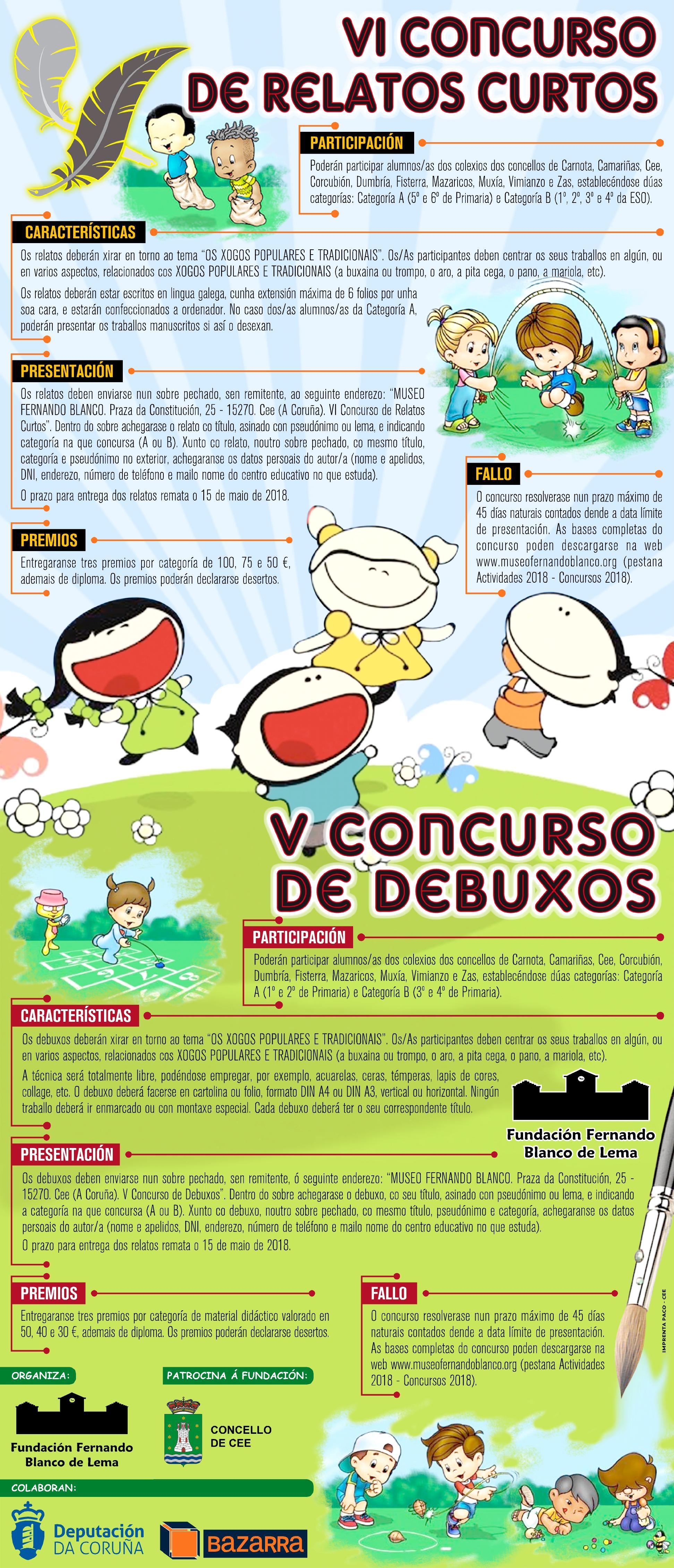 V CONCURSO DEBUXOS - VI CONCURSO RELATOS