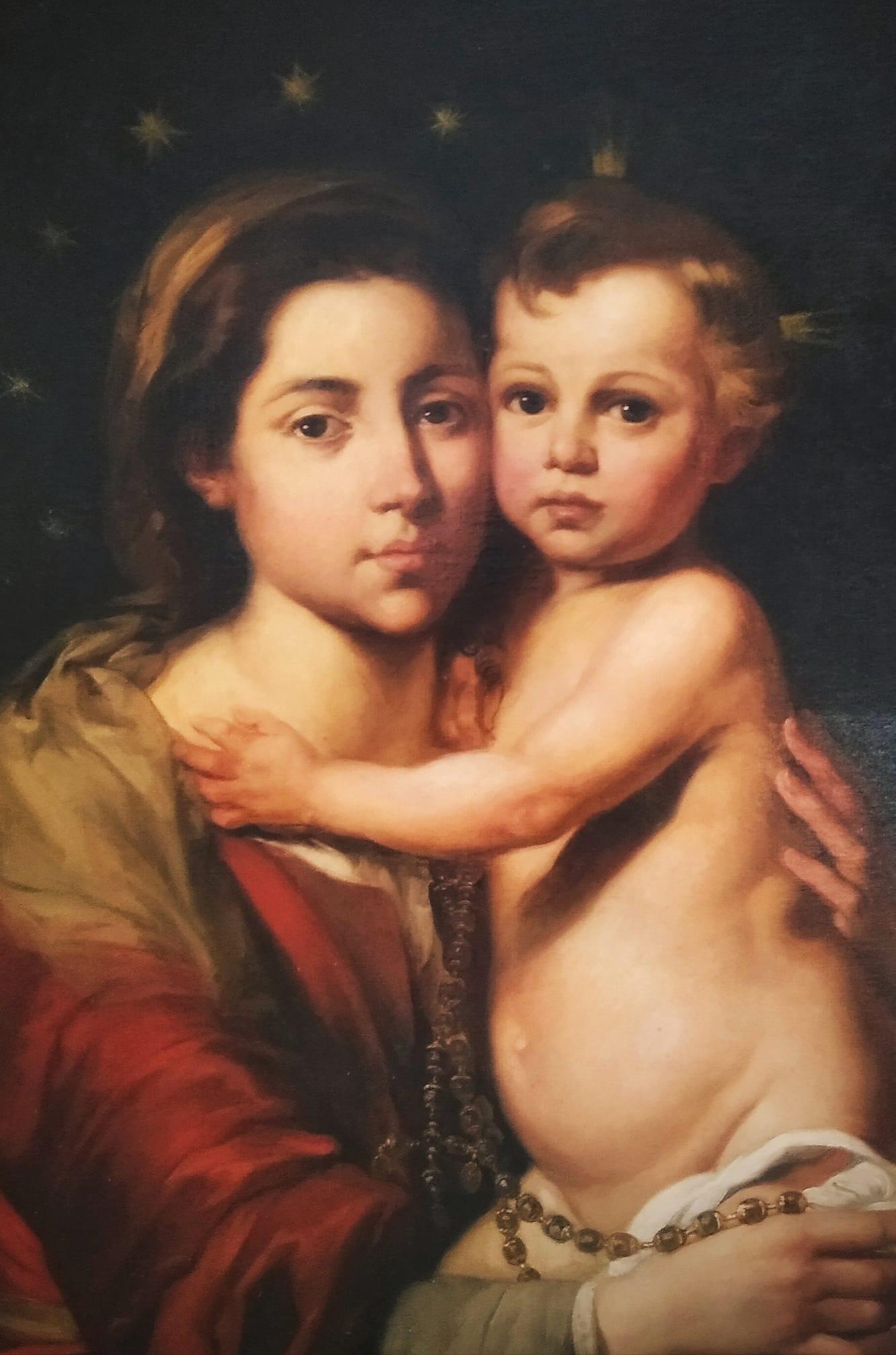 Virxe do Rosario co Neno por Francisco Díaz Carreño (1891) / Virgen del Rosario con el Niño por Francisco Díaz Carreño (1891)
