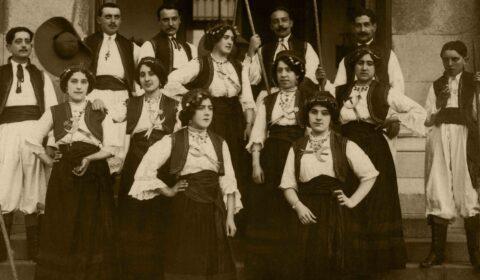 Obra de teatro. Ca: 1908-1909