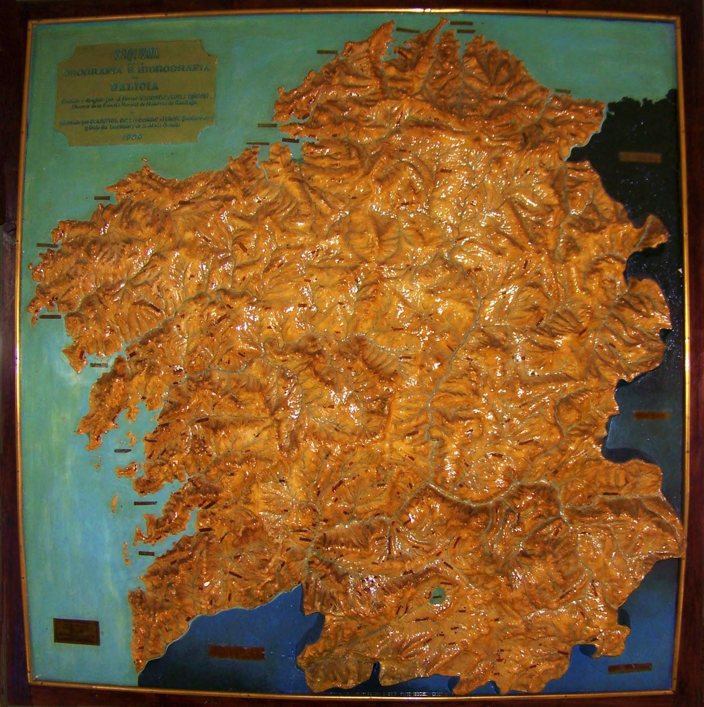 Esquema orográfico e hidrográfico de Galicia